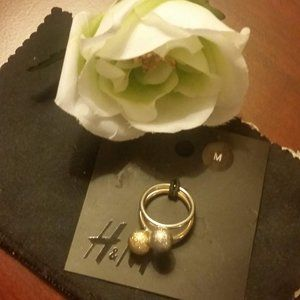H&M Gold/Silver Ball Rings